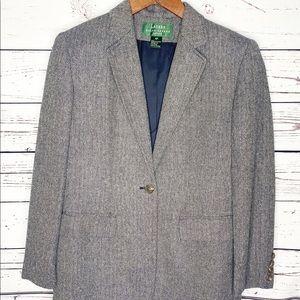 Ralph Lauren Herringbone Wool/Silk Blazer Size 4P